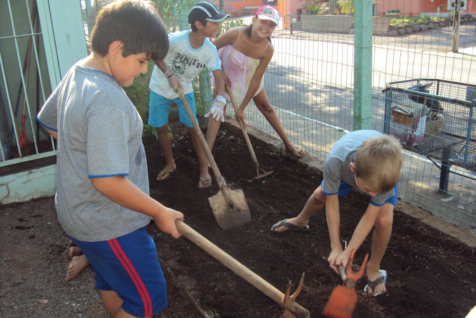 projeto horta e jardim na escolaEscola Municipal de Ensino