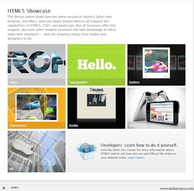 html5 ile yapılmış websiteler