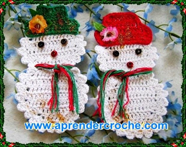 croche boneco da neve natal arvore decoração aprender croche com edinir-croche dvd loja curso frete gratis