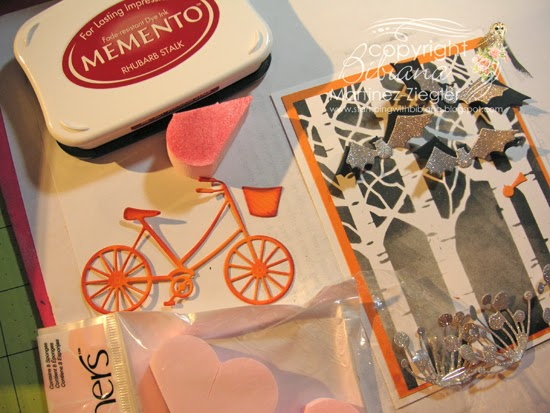 halloween bicycle card sponging the bicycle