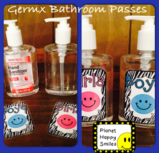 Hand Sanitizer Bathroom Passes