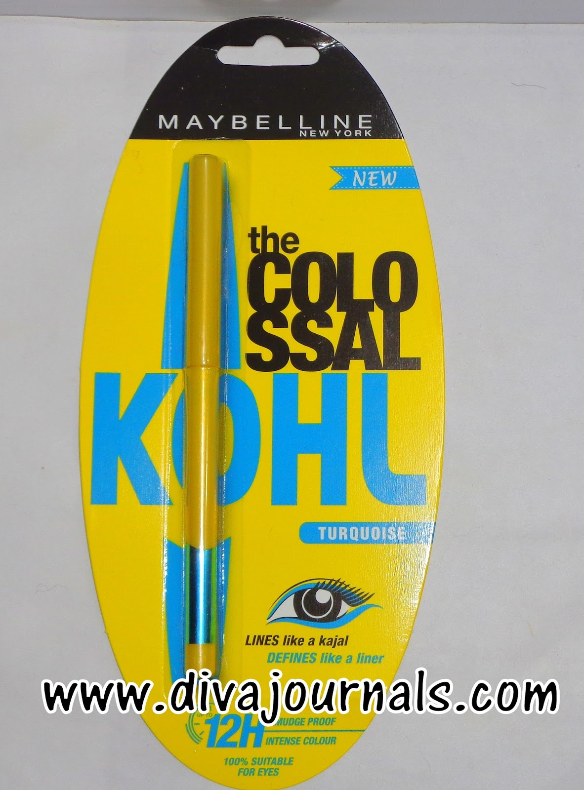 Maybelline Colassal Kohl Kajal-Turquoise Review