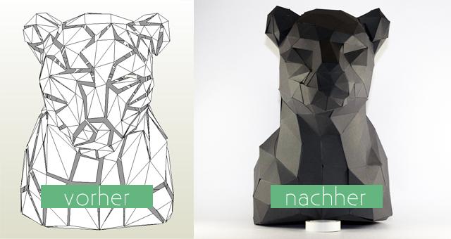 DIY Origami Bastelvorlage