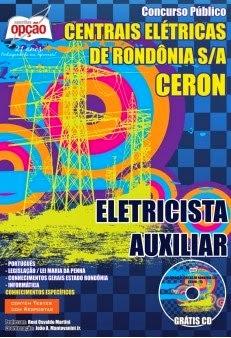 Aostila Eletricista Auxiliar Centrais Eletricas de Rondonia CERON 2014