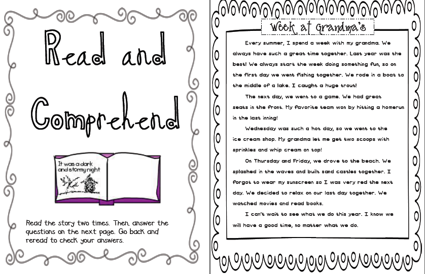 Sarahu0026#39;s First Grade Snippets: June Literacy Center Menu