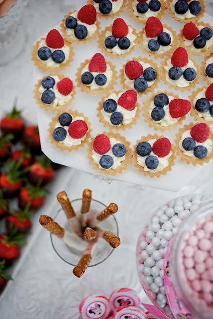 Fresh Fruit Tartlets for First Birthday Party Minnesota