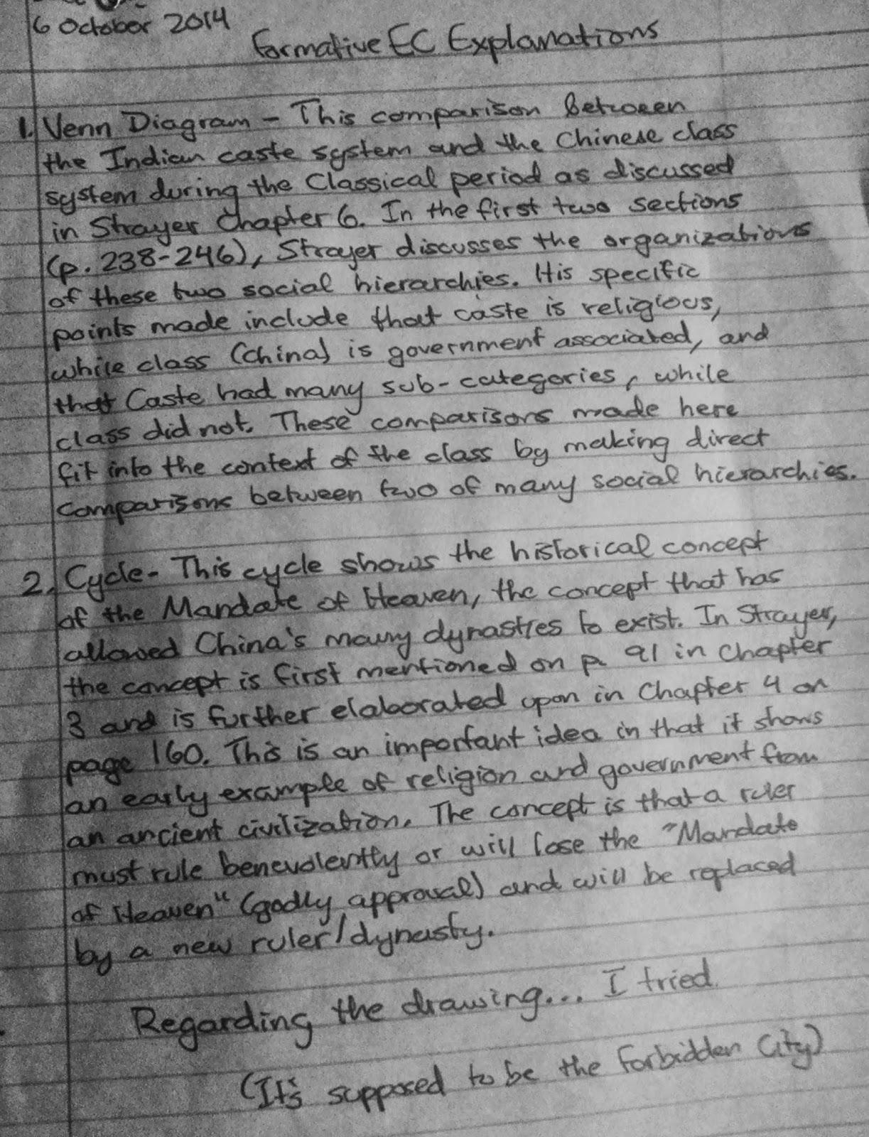 Mandate of heaven essay