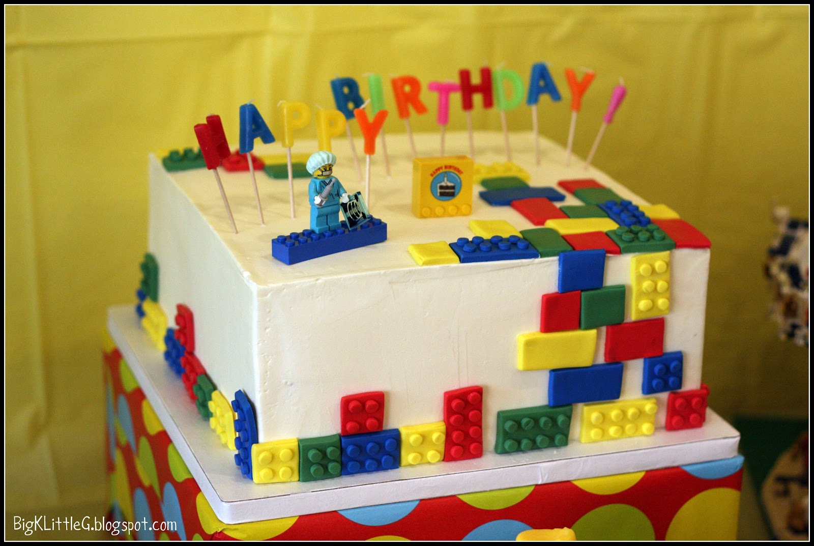 Lego Birthday Cake With Fondant Bricks