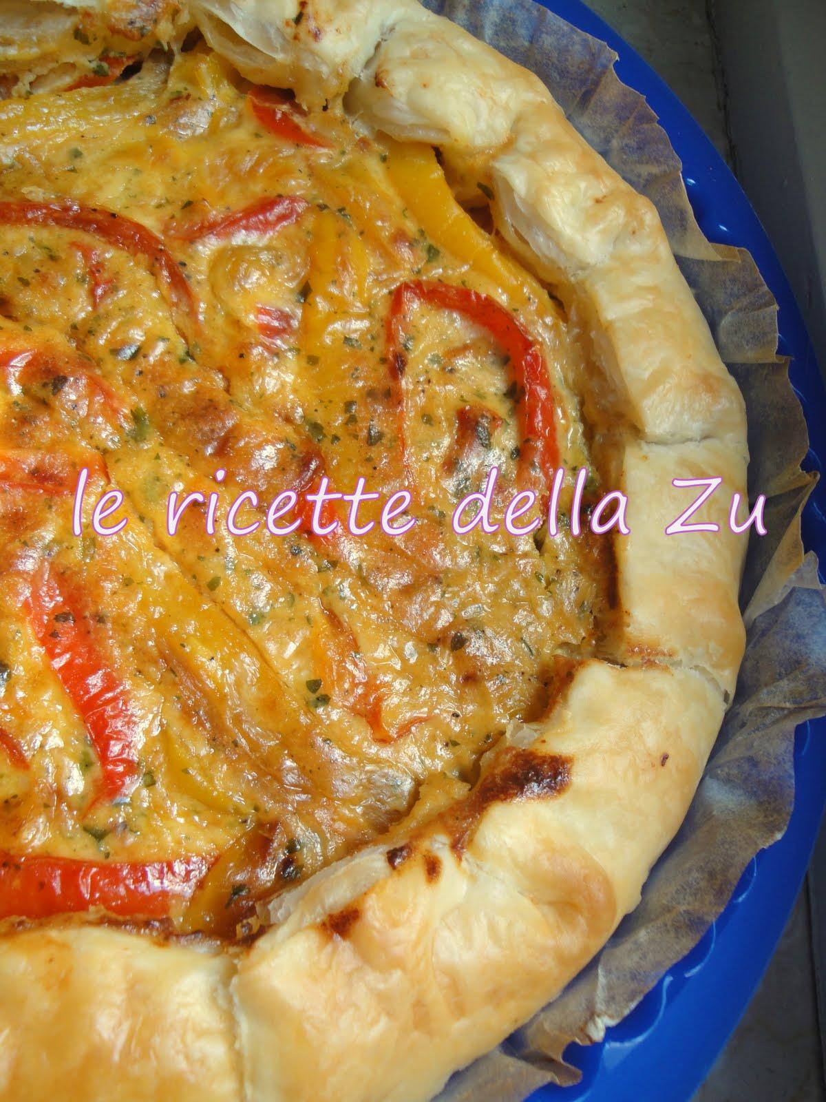 Ricetta pasta sfoglia ripiena di peperoni