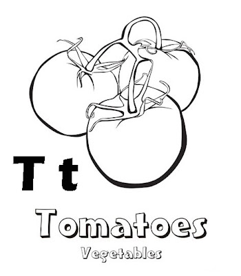 Fruits Coloring Pages Of Letter Alphabet