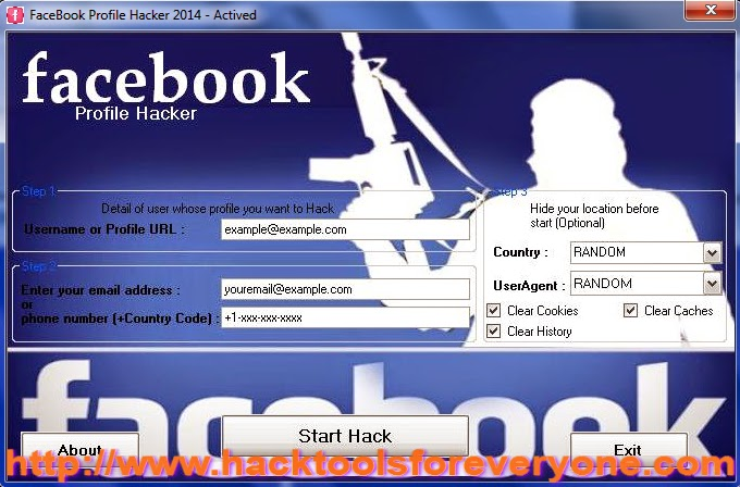FaceBook Profile Hacker 2014