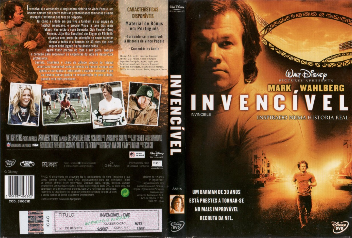 Invencivel DVD Capa