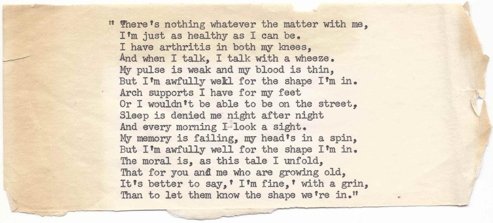 mementos 1 poem