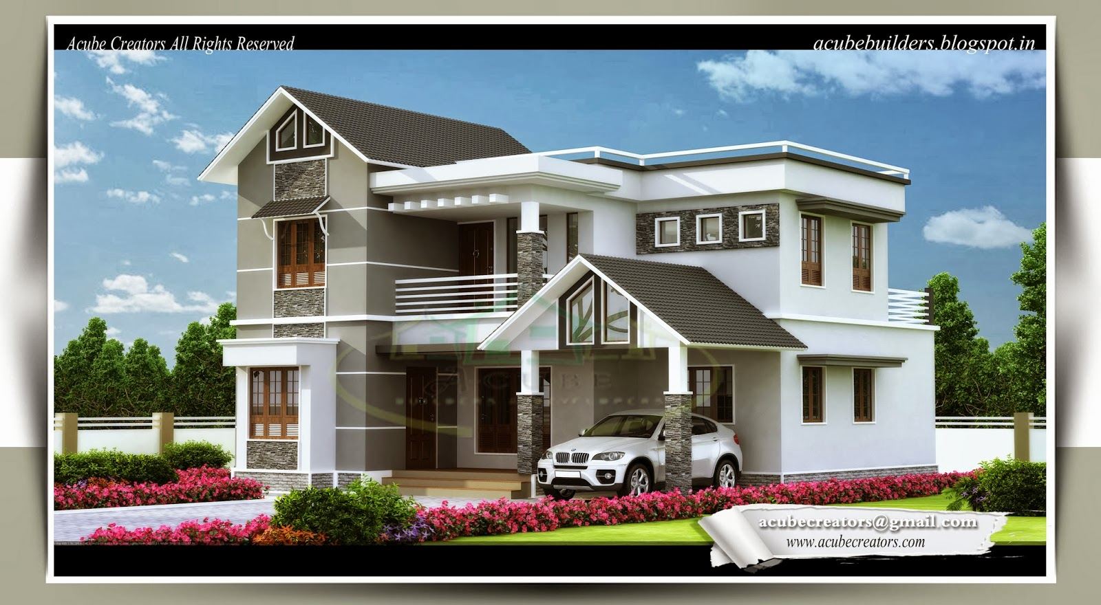 1983 4 bedroom villa design plan 174 acube for 4 bedroom villa plans
