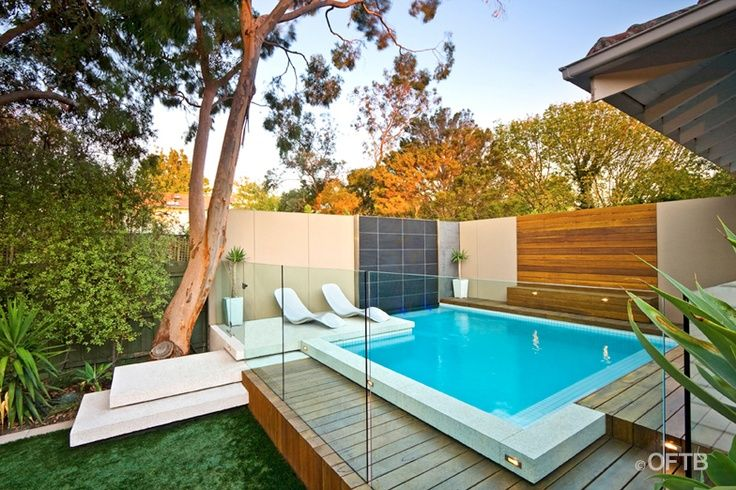 10 piscinas lindas e pequenas decora o e inven o - Piscina prefabricada pequena ...