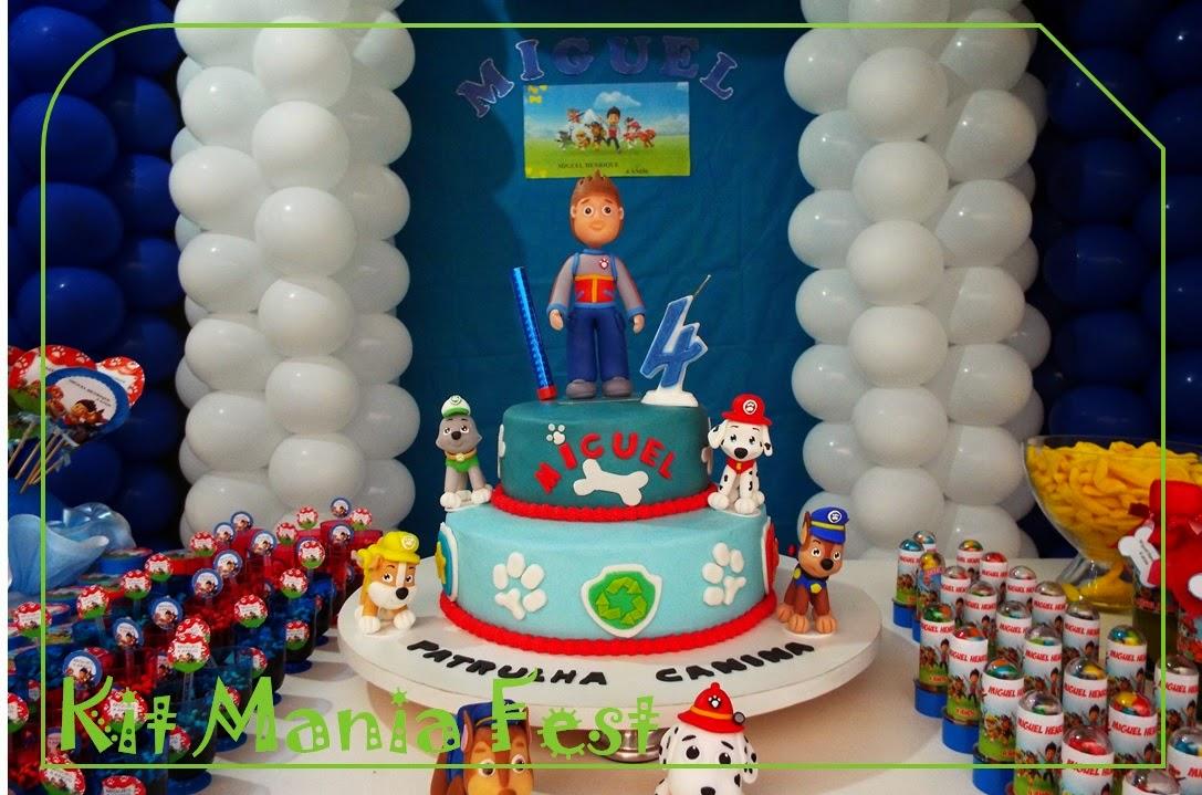 decoracao festa infantil patrulha canina : decoracao festa infantil patrulha canina:Kit Mania Fest: Festa Patrulha Canina – Miguel