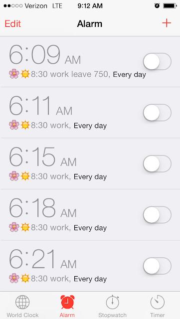 apple iOS alarm clock