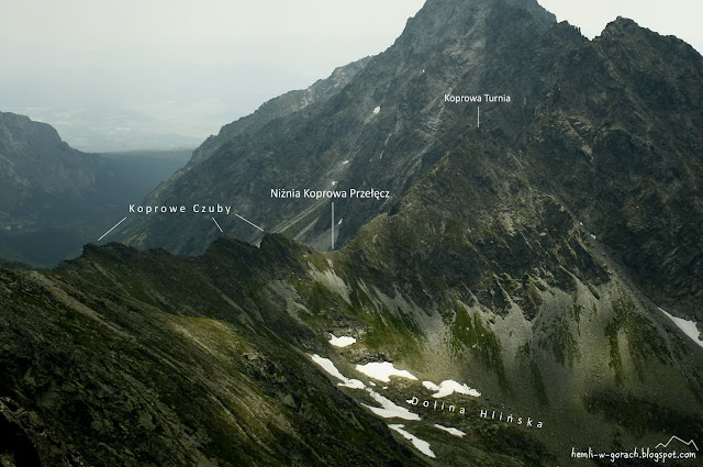 Widok na Niżnią Koprową Przełęcz