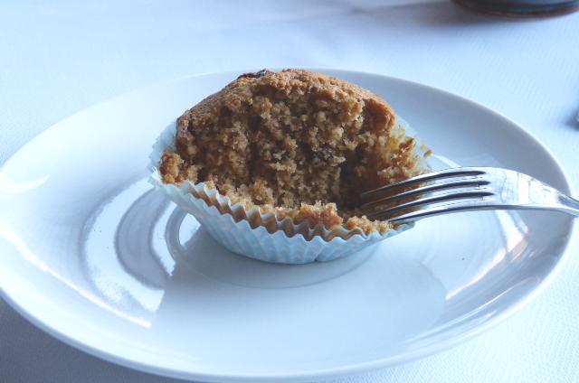 Muffins de avena y frutos del bosque