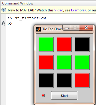"matlab ""sf_tictacflow"" command"