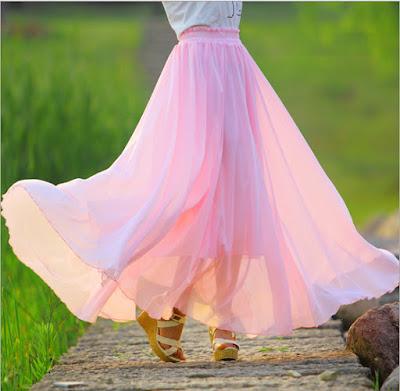 Model Rok Payung Sifon Cantik