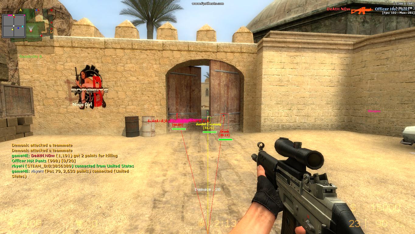 Counter strike source aim