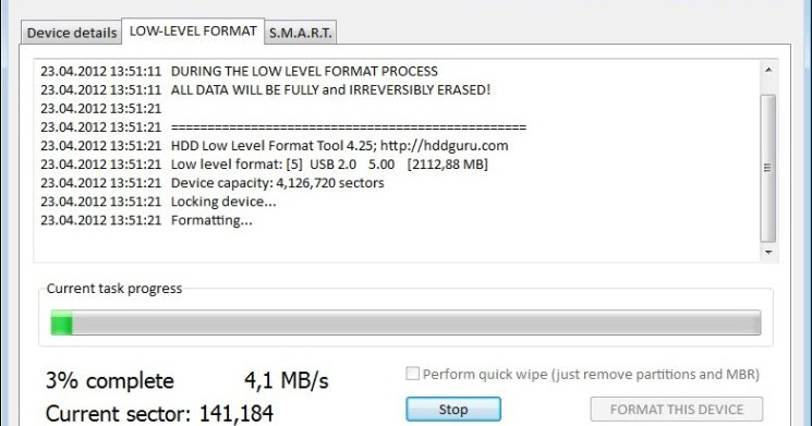 how to low level format a hard drive