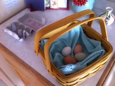 A tisket A tasket a blue and white Basket