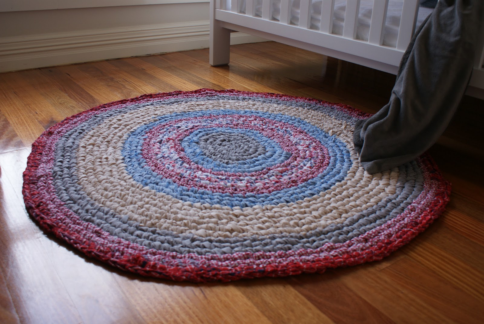 Crocheted rag rug Millie Makes