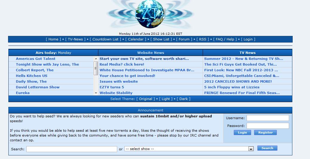 eztv channels list