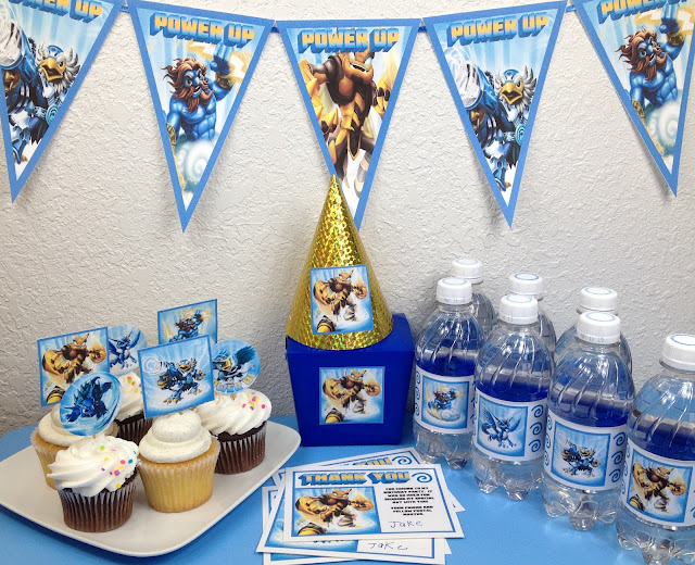 Skylanders Party Supplies UPrint at www.SkylandsAndBeyond.com