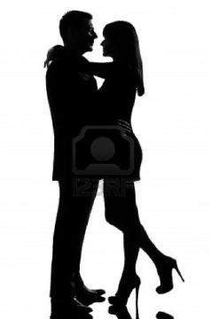 لماذا عمر المرأة اطول من عمر الرجل - رجل وامرأة يرقصان - man and woman dancing - one-caucasian-lovers-couple-man-and-woman-hugging-tenderness-in-studio-silhouette-isolated-on-white-