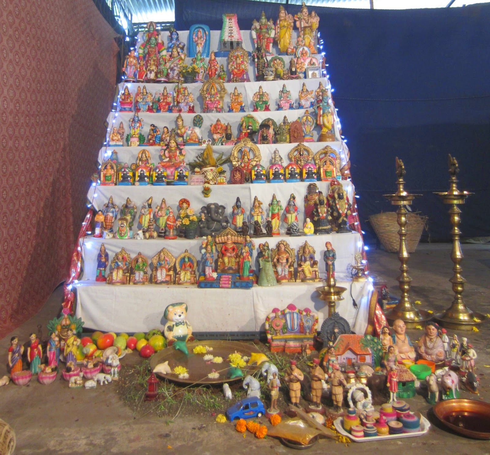 Golu Decoration Tips My World Navratri Golu Dasara Bobme Arrangements In Mumbai