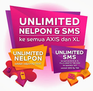 Paket Nelpon dan SMS Unlimited AXIS 2014
