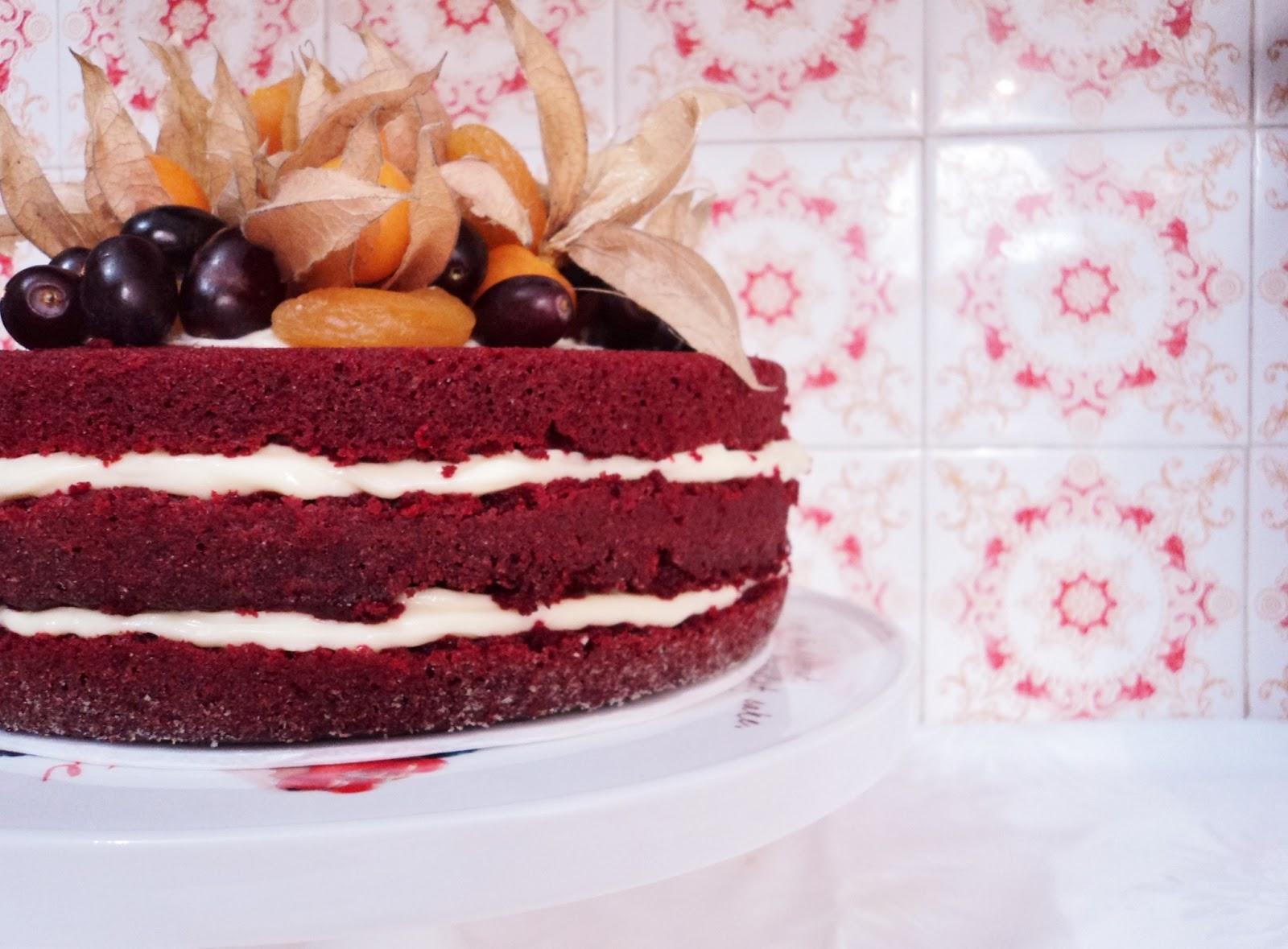 Cake Decorating Company Massa : Arte de Confeitaria: RED VELVET NAKED CAKE!!!
