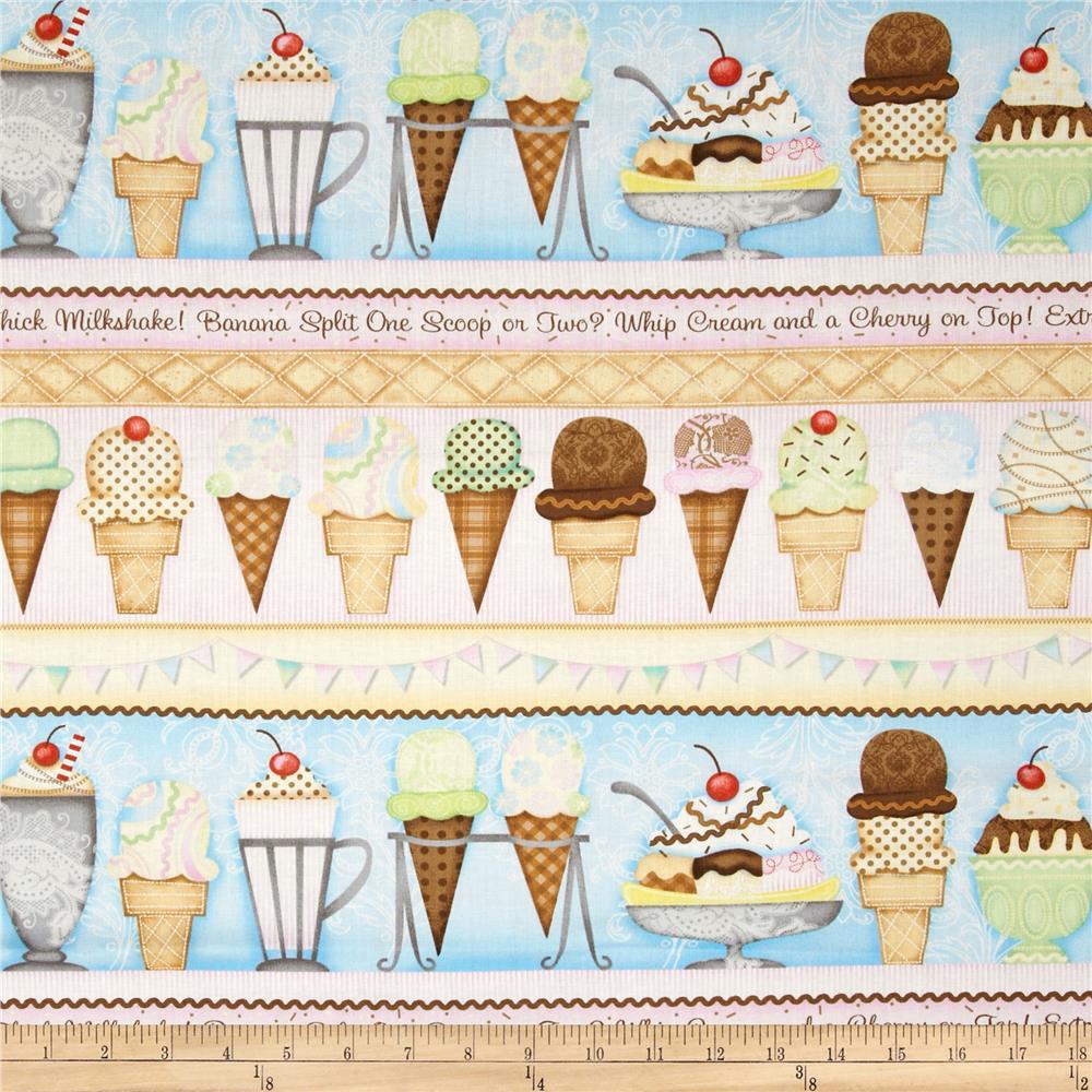 Sassy Apron:... Vertical Ice Cream Border
