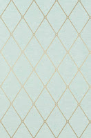 geometric wallpaper metallic blue T4169
