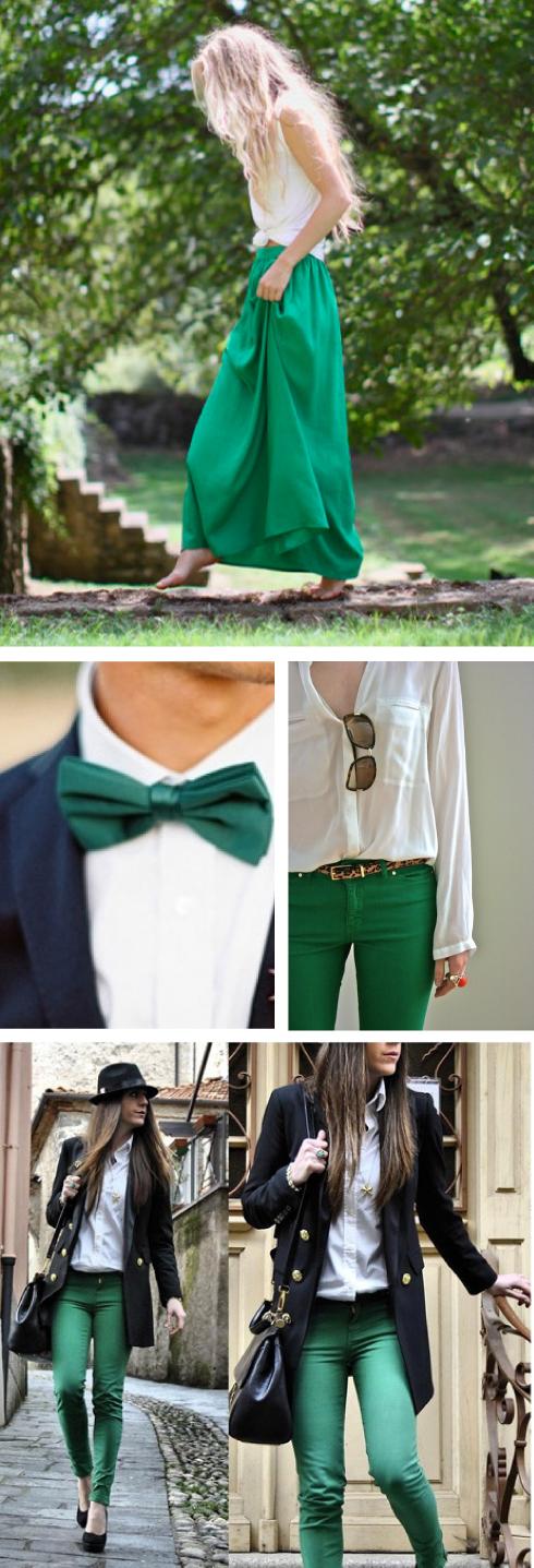 prendas de vestir verde esmeralda moda