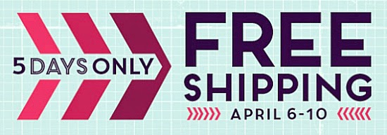 Free shipping April 6-10 on all Stampin' Up! products! #cardmaking #papercrafts #StampinUp