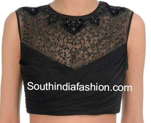 high neck net blouse
