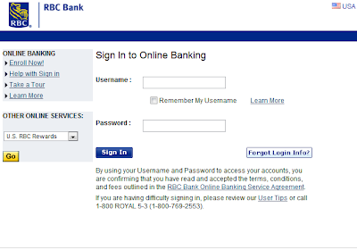RBC Bank USA sign in