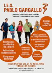 Cartel publicitario Bachillerato IES Pablo Gargallo