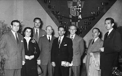 Componentes del equipo de la Diputación en 1948, con Antonio F. Argüelles