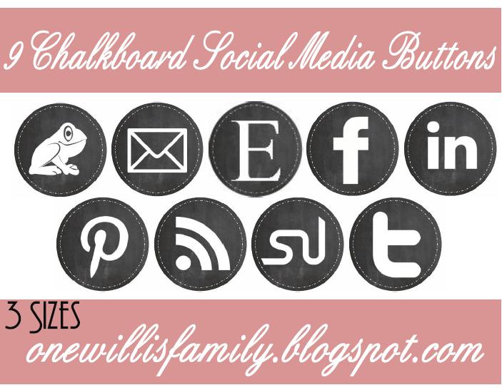 Free Chalkboard Social Media Buttons