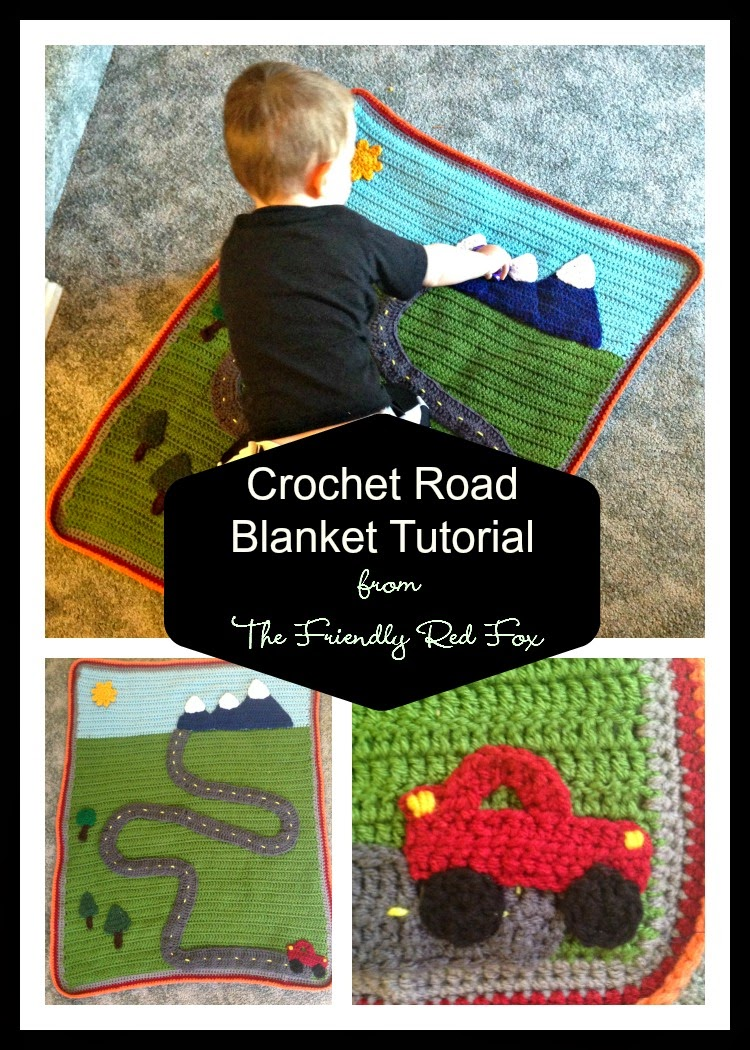 Crochet Quilt Tutorial : Crochet Road Blanket Tutorial - The Friendly Red Fox