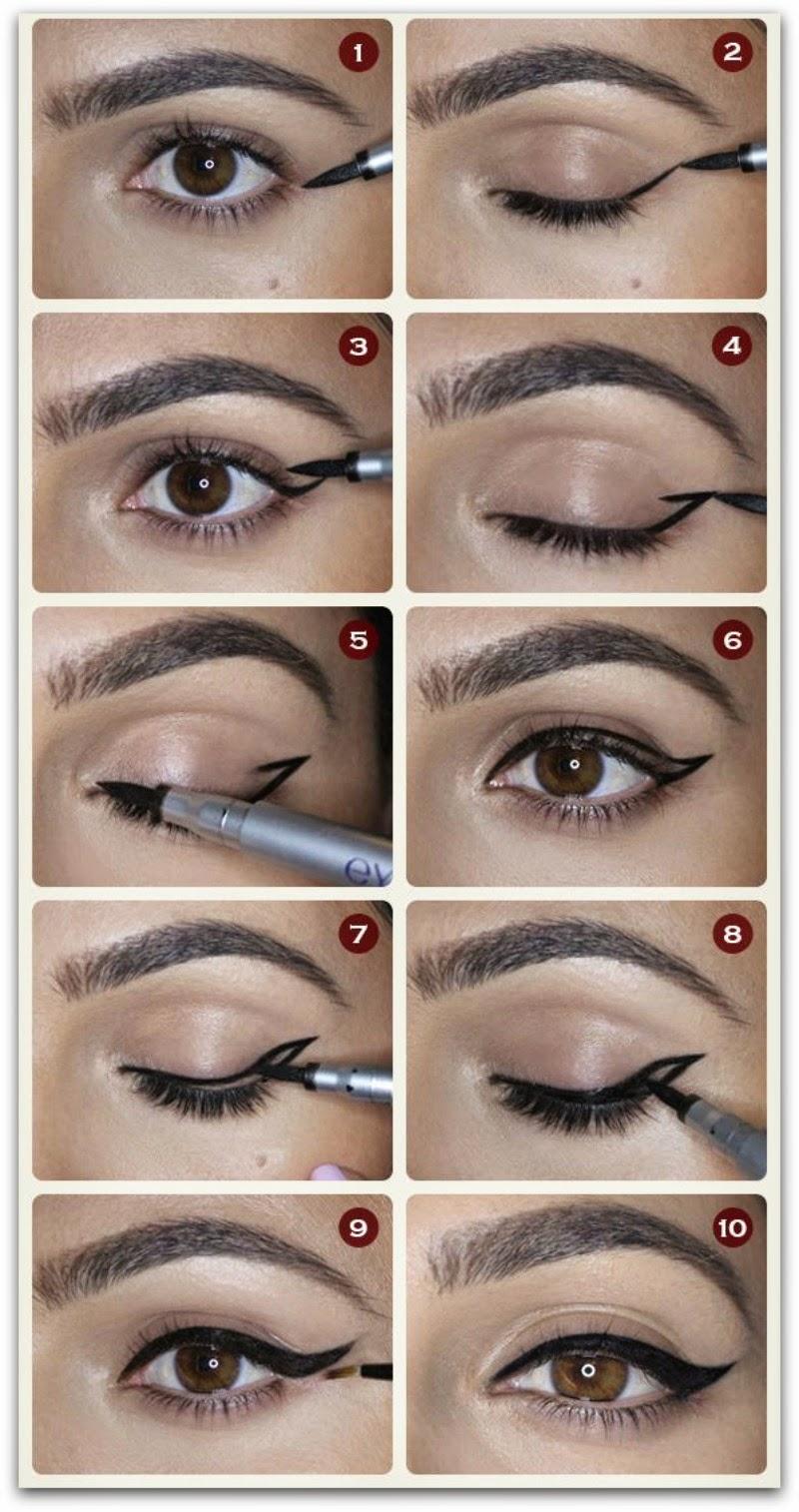 En casa de oly c mo dar alas a tus ojos con el eyeliner - Maneras de pintar los ojos ...