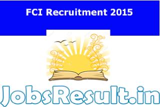 FCI Recruitment 2015