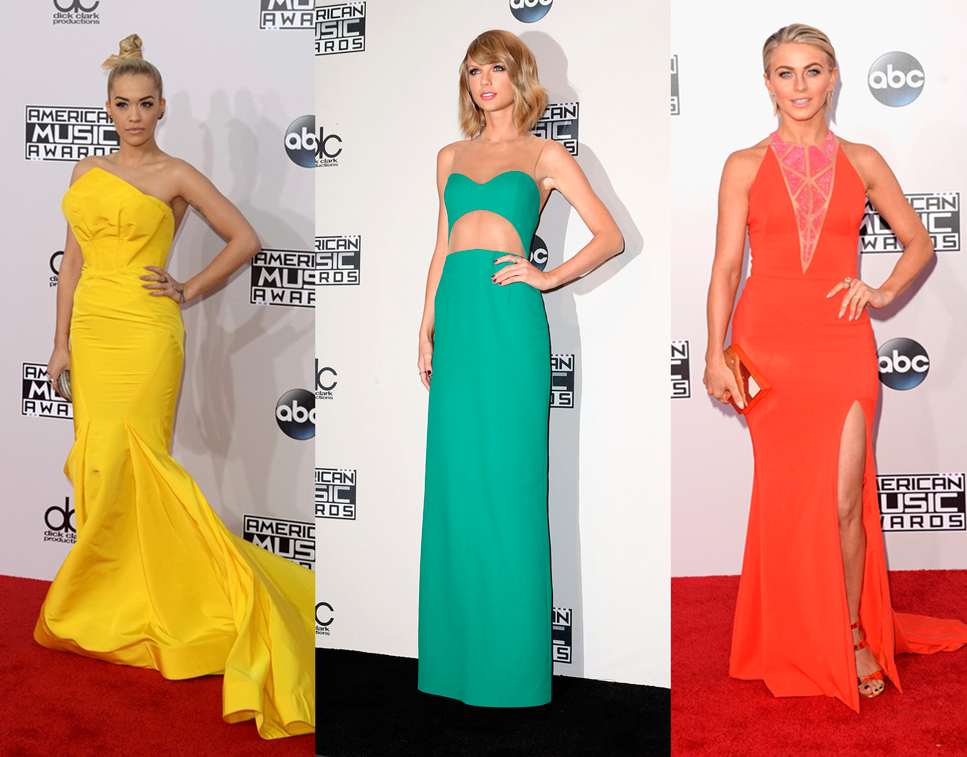 cítrico, vestido, look, American Music Awards, 2014