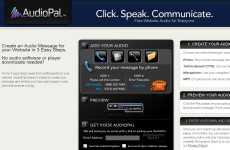 AudioPal: permite grabar mensajes de voz online para publicarlo en un sitio web ó en un blog