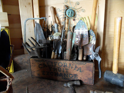 Garden Shed Cabin Tool Display